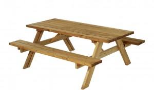 træ bordbænkesæt i lærk