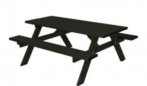 træ bordbænkesæt i sort
