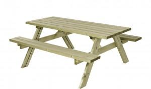 træ bordbænkesæt i tryk